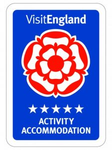 Visit England logo showing 5-star Activity Accommodation status