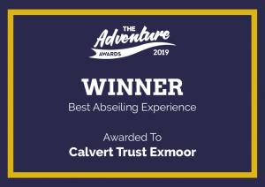 Award Certificate - Winner Best Abseiling Experience