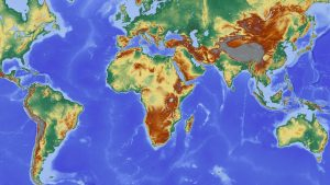 A world map.