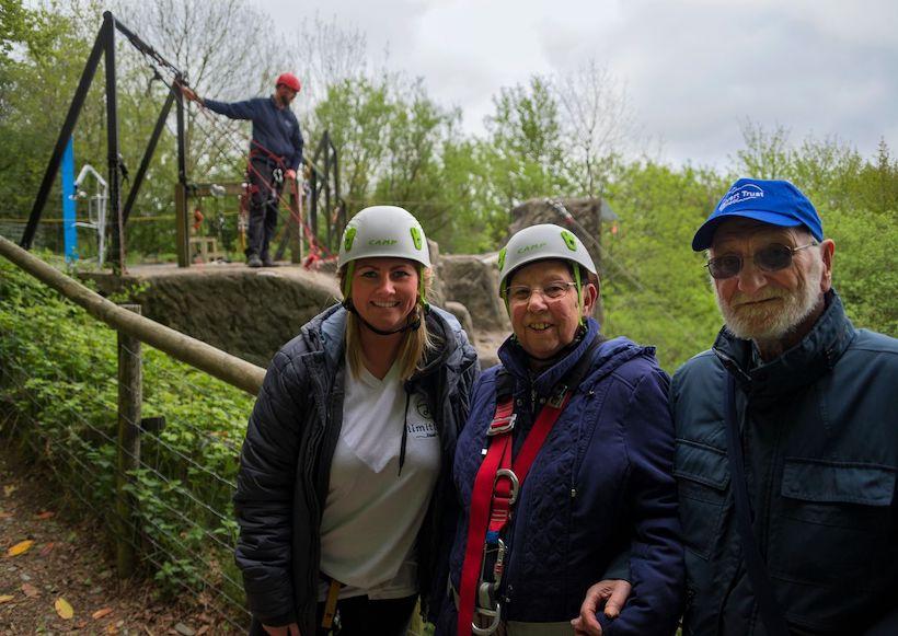 A family enjoying an adventure holiday at Calvert Trust Exmoor