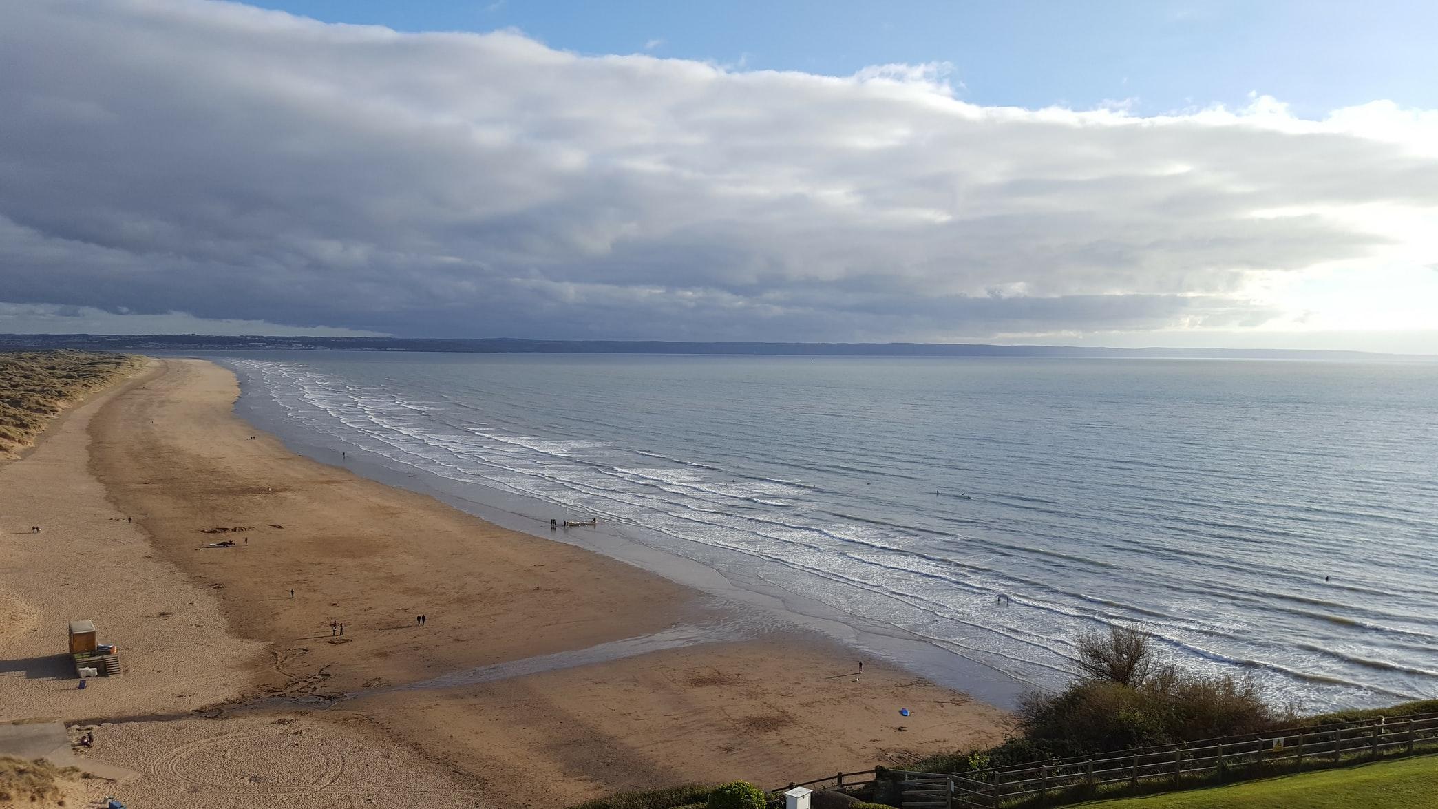 A view of Saunton beach