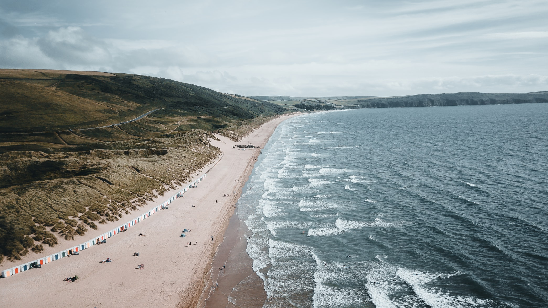 A stretch of beach at Woolacombe