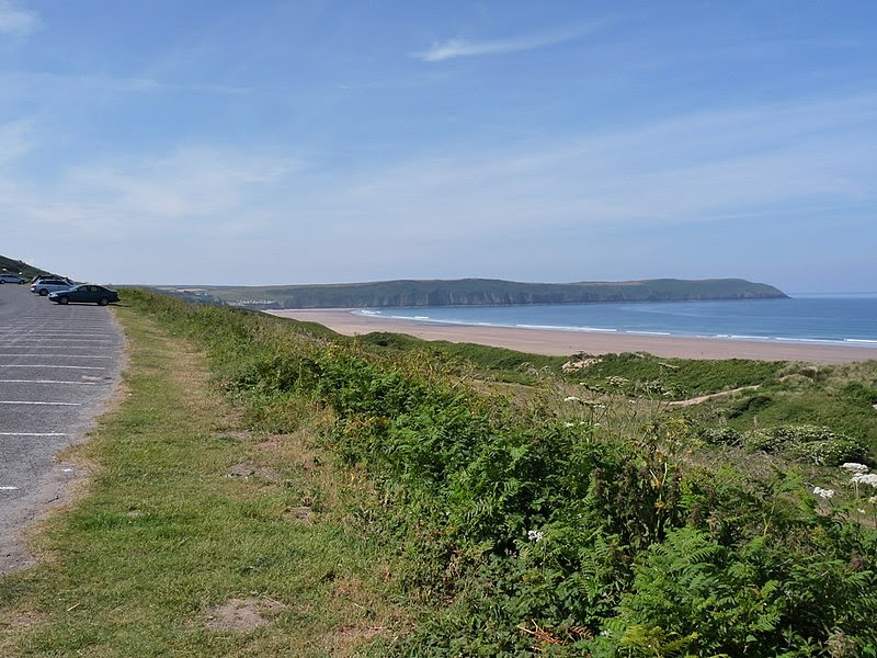 Marine Drive in Woolacombe on a clear day