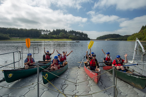 Guests at Calvert Trust canoeing